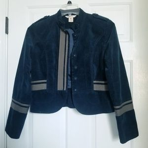 Sundance Velveteen velvet blue jacket medium